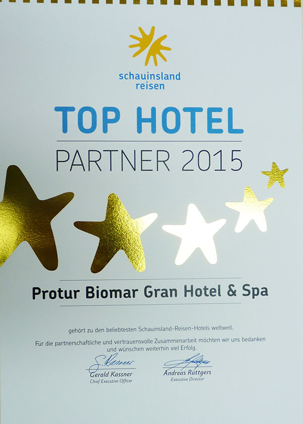 Mejor Top Hotel Partner 2015 by Schauinsland Reisen