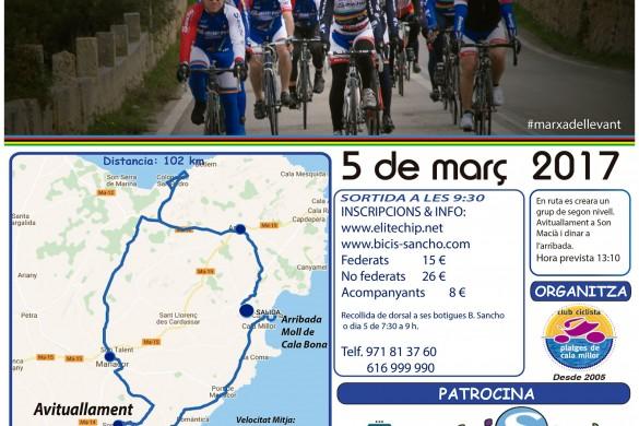 Cyclotouriste Marxa de Llevant 2017 Cicloturista