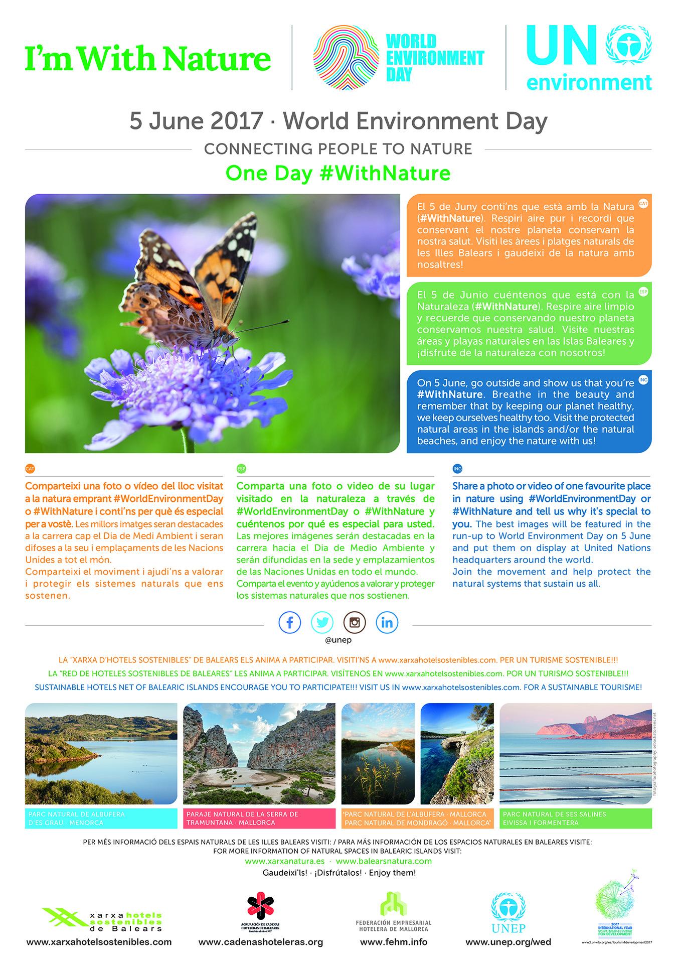 5 de Junio día mundial del Medio Ambiente ESTOY CON LA NATURALEZA