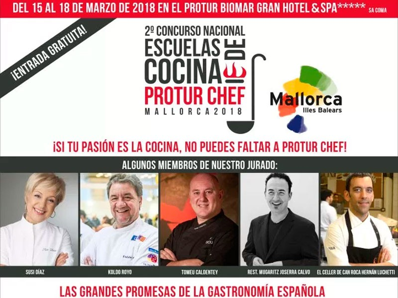 THE CULINARY EVENT OF THE YEAR!  Four days in which the Protur Biomar Gran Hotel & Spa in Sa Coma will be the temple  of  all lovers of 'la cuisine.' Protur-chef-gran-evento-culinario-CULINARI